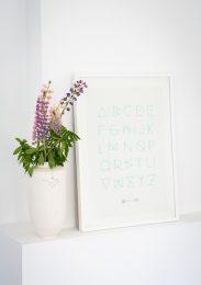 alfabet poster sand