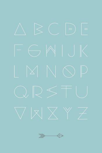 Alfabet blue