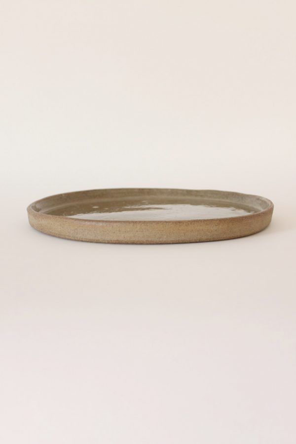 grey large stoneware plate