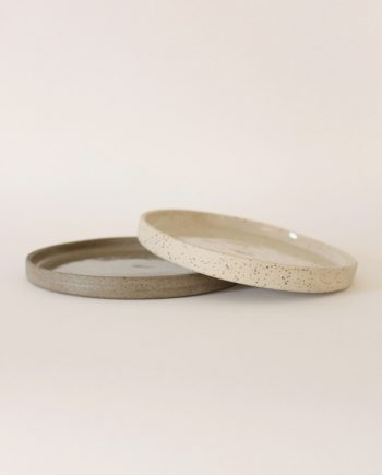 grey small stoneware plate