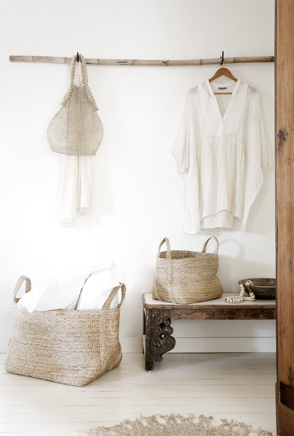 Basket Making Jute : Natural large jute storing basket ohmyhome